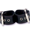 Kinky Kitten's Cuffs: Slip this cuffs around your lover's wrists and tease her with powerful dual stimulation adult sex toys and rabbit vibrators.