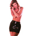 Latex Mini Skirt: Dress up in sexy clothing before you jump in the sack with a vibrator, dildo, vibrating cock ring, lube, and dual stimulation sex toys.