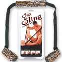 Sex Sling: Sexy restraints and BDSM sex toys go well with this sexual positions sling.