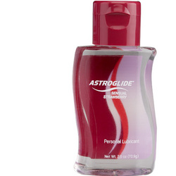 Strawberry Astroglide: Tasty flavored lube makes sex toys more interesting and arousing.