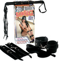 Leather Bondage Kit: Playfully spank your lover while he or she plays with a quality vibrator, dildo, vibrating cock ring, or innovative sex toy.