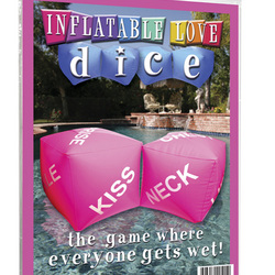 Inflatable Love Dice: Roll these erotic dice to see which sex toys you will please your partner with!